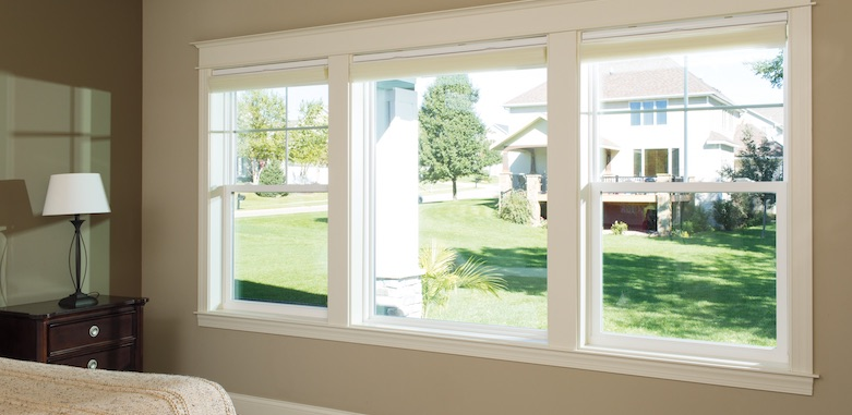 Pella windows in the master bedroom